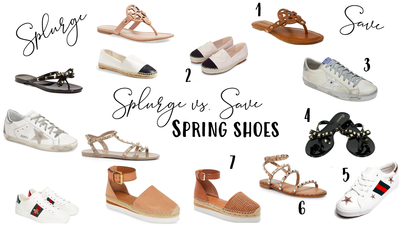 Splurge vs Save: Spring Shoes